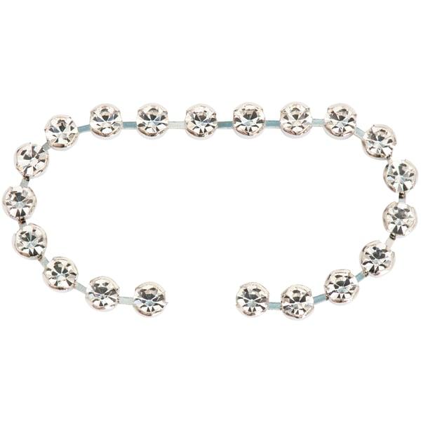 Jewellery Made by Me Aufnähstein-Kette gefasst weiß 4mm