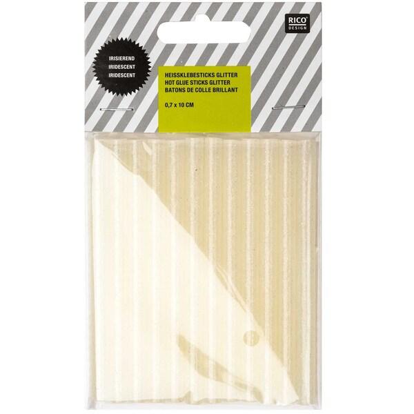 Rico Design Heißklebesticks glitter irisierend 0,7x10cm 12 Stück