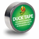 Duck Tape Klebeband 19mm 4,5m metallic silver