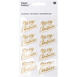Paper Poetry Gelsticker Merry Christmas