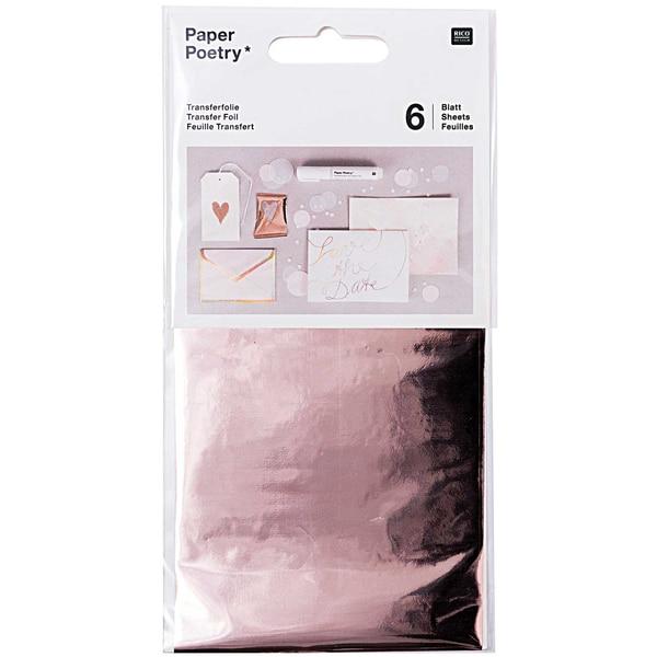 Rico Design Transferfolie 9x15cm 6 Blatt roségold
