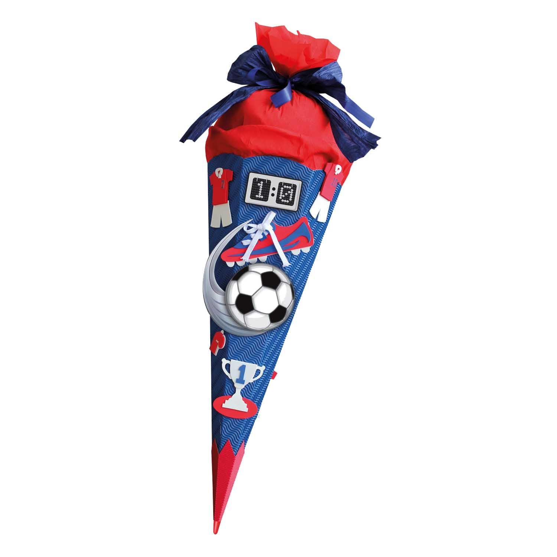 ROTH Schultüten Bastelset Moosgummi Soccer rot 68cm