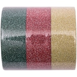 Rico Design Glitter Tape Set 1,5cm 5m rot/grün