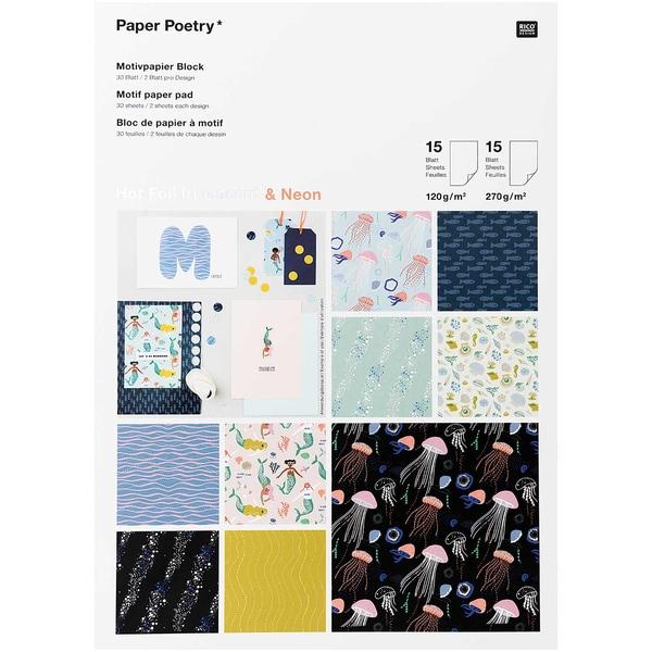 Paper Poetry Motivpapier Block Mermaids 30 Blatt