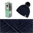 Rico Design Häkelset Mütze Wild Wild Wool mit Bommel marine