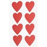 Paper Poetry Sticker Herzen 4 Blatt rot