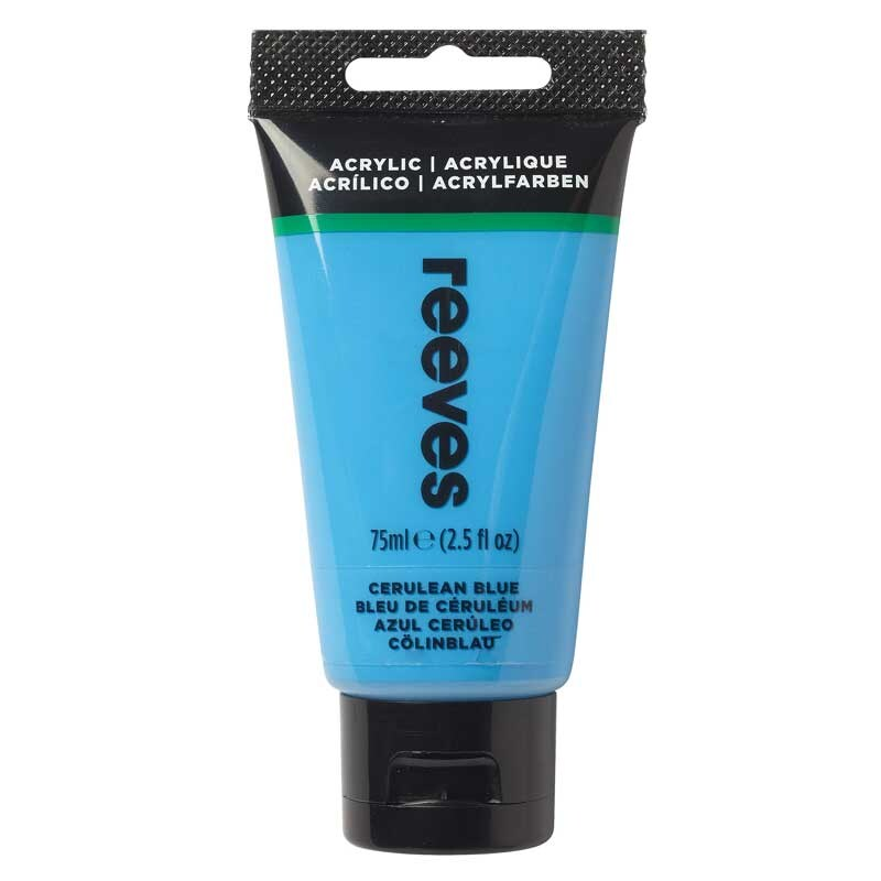 reeves Acrylfarbe 75ml coelinblau