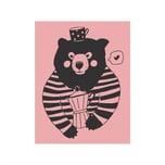 May&Berry Stempel Bär rosa 35x45mm