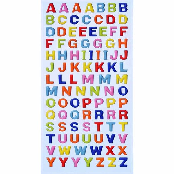HobbyFun SoftySticker Großbuchstaben mehrfarbig