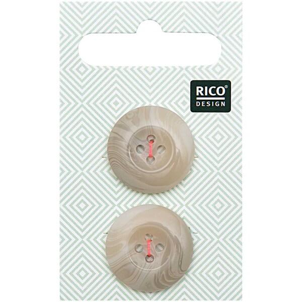 Rico Design Knopf beige 2,2cm strukturiert
