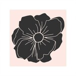May&Berry Stempel Blüte dunkel nude 45x45mm