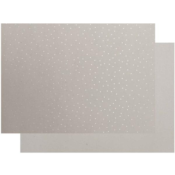 Paper Poetry Graukarton Sterne 50x70cm silber