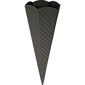 goldbuch Schultüte 3D-Wellkarton sechseckig 69cm schwarz