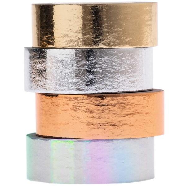 Paper Poetry Tape Set Metallic 15mm 5m 4 Stück