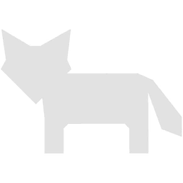Rico Design Cardboard Füchse 10,5x7,2cm 3 Stück