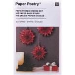 Paper Poetry Bastelset Papiertüten-Sterne Jolly Christmas klein rot
