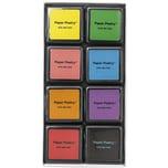 Paper Poetry Tusche-Stempelkissen Set 8 Farben Essentials Mix