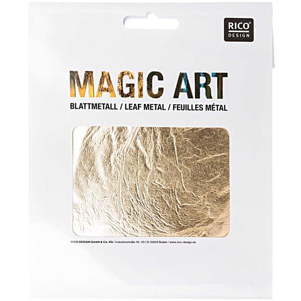 Rico Design Magic Art Blattmetall 6 Blatt gold