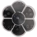 Rico Design Makramee-Glasschliffset schwarz 22teilig