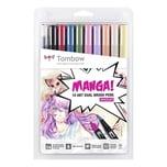 Tombow ABT Brush Pen Set Manga Shojo 10teilig