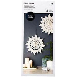 Paper Poetry Bastelset Papiertüten-Sterne groß weiß