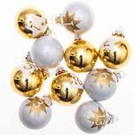 Adventskalenderkugeln 1-24 gold-weiß 3,5cm 24 Stück