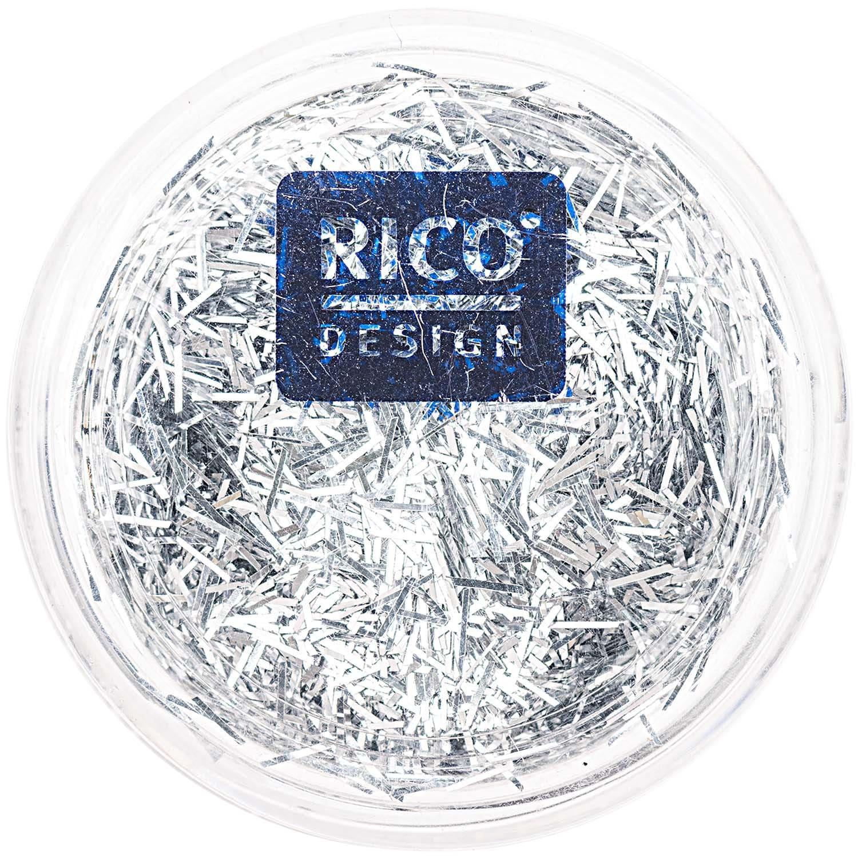 Rico Design Stäbchen Glitter 4g silber