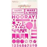 MyMindsEye Hooray - Acrylic Shapes