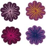 Rico Design Filzblüten 4 Stück pinkmix