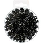 Perlen-Set 70-teilig schwarz