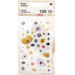 Paper Poetry Sticker Crafted Nature Blumen rosa 130 Stück