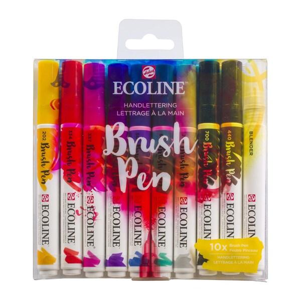 ECOLINE Brush Pen Set 10 Stück Handlettering