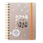 Paper Poetry Agenda 2019-2020 Crafted Nature grau 14x18cm