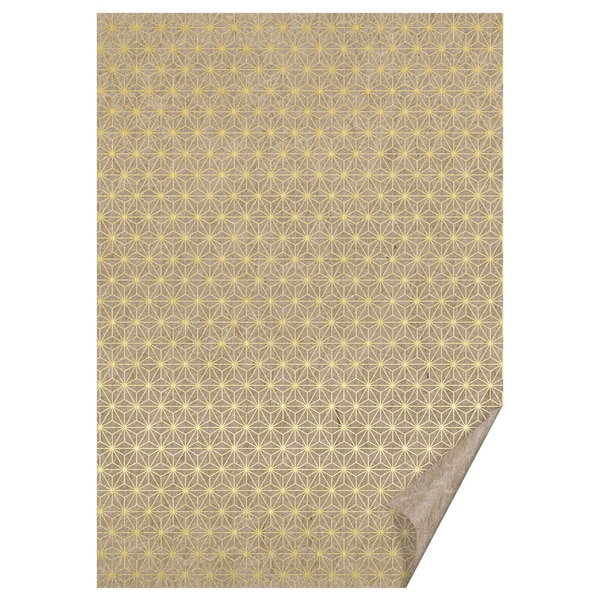 HEYDA Naturkarton Sternlinien gold 50x70cm 220g/m²
