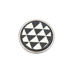 Rico Design Knopf Dreiecke schwarz-weiß 14mm