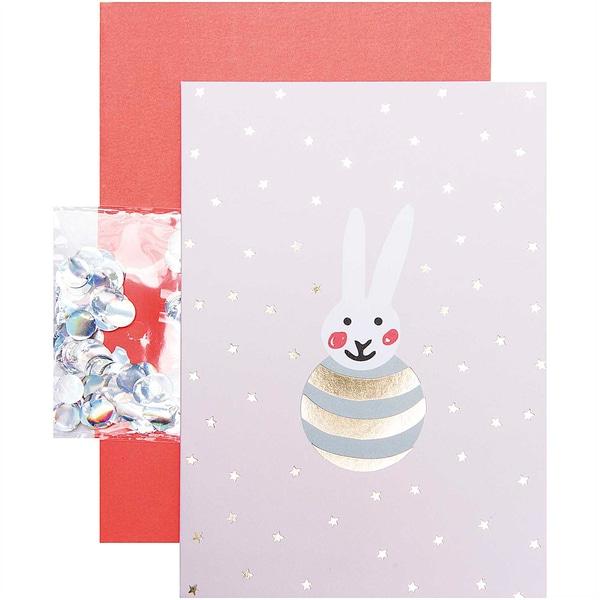 Paper Poetry Grußkartenset Hello Baby Hase