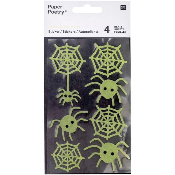 Paper Poetry Washi-Sticker Spinnen