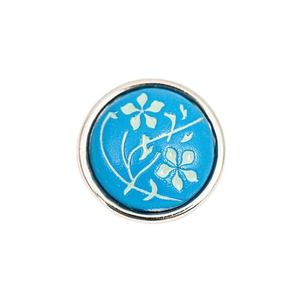 Rico Design Knopf Blüten blau 14mm