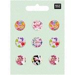 Rico Design Knopfmix perlmutt Floral Nr.1 1,5cm 9 Stück
