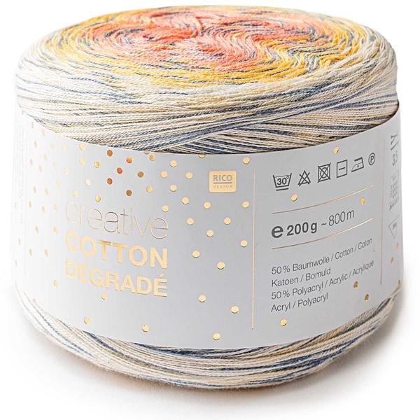 Rico Design Creative Cotton Dégradé Print 200g 800m gelb-hummer