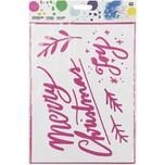 Rico Design Schablone Merry Christmas 18,5x24,5cm selbstklebend