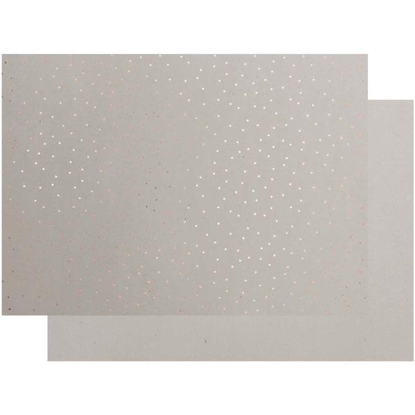 Paper Poetry Graukarton Sterne 50x70cm roségold