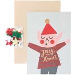 Paper Poetry Grußkartenset Jolly Christmas Wichtel