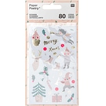 Paper Poetry Sticker Jolly Christmas pastell 4 Blatt