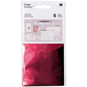 Rico Design Transferfolie 9x15cm 6 Blatt rot