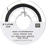 Rico Design Edelstahlseide 0,45mm 10m schwarz