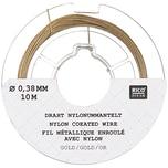 Rico Design Edelstahlseide 0,38mm 10m goldfarbig