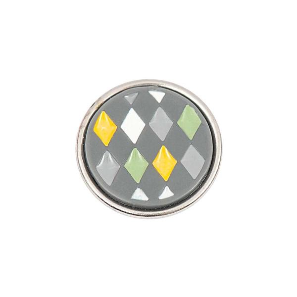 Rico Design Knopf Dreiecke mehrfarbig 14mm
