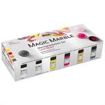 Kreul Magic Marble Marmorierfarben Set Love Neon 6x20ml