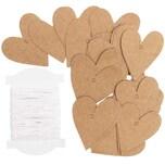 Paper Poetry Papieranhänger Herzen 3x3,5cm Kraftpapier 24 Stück